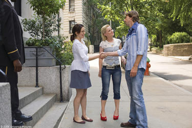 Tina Fey, Amy Poehler and Dax Shepard in &quot;Baby Mama.&quot;